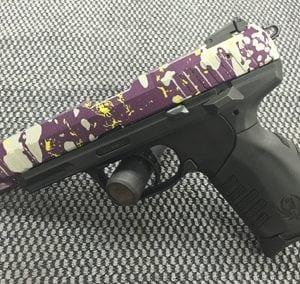 Purple White Pistol