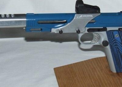 Silver Blue Pistol