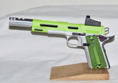 Lime green silver Handgun