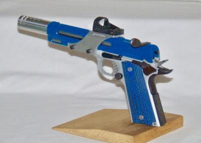 Blue Silver Handgun