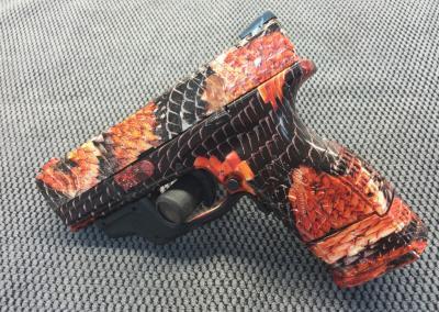 Black Orange Snake Skin