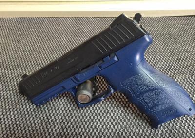 Black Blue Handgun