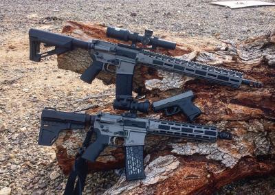 Gun Metal AR & Handgun