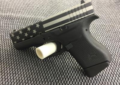 Silver Flag Handgun
