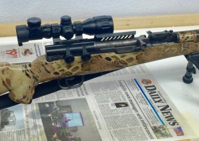Snake Skin Bolt Action Rifle